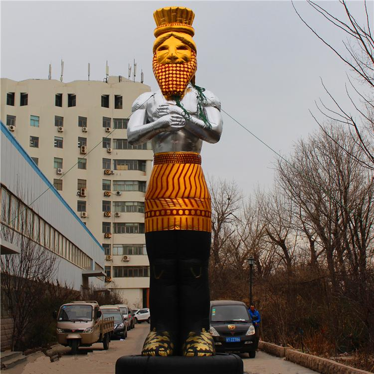 Su misura trasporto libero gonfiabile gigante Dio con il ventilatore per Nightclub parte o del partito di musica Starge Decoration