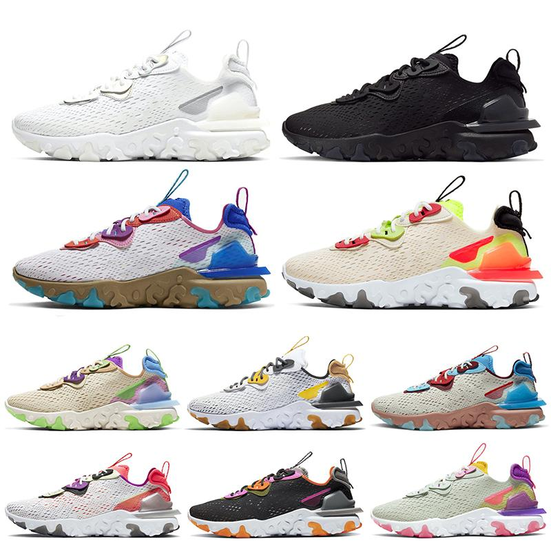 React Vision Epic React Element 55 87 2020 Stock x uomo donna Scarpe da corsa Bianco Nero Photon Dust Arancione Volt Sneakers sneaker sportive EPIC
