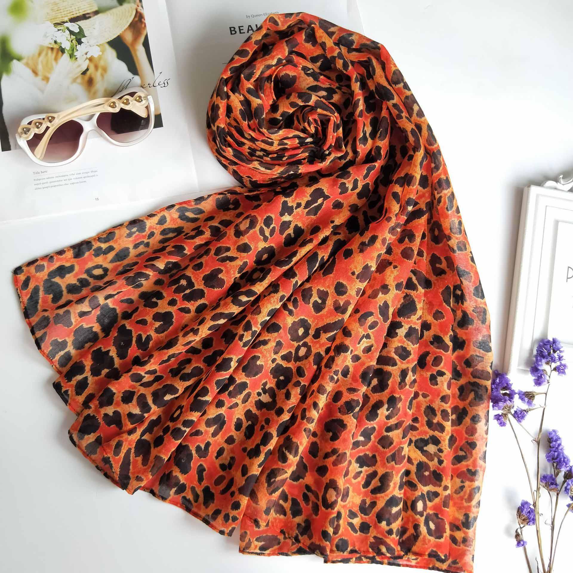 CAVME 100% Модальный хлопок Leopard шарф для женщин Femme сексуальных дам шарфов Обертывания шали 85 * 200см 155г