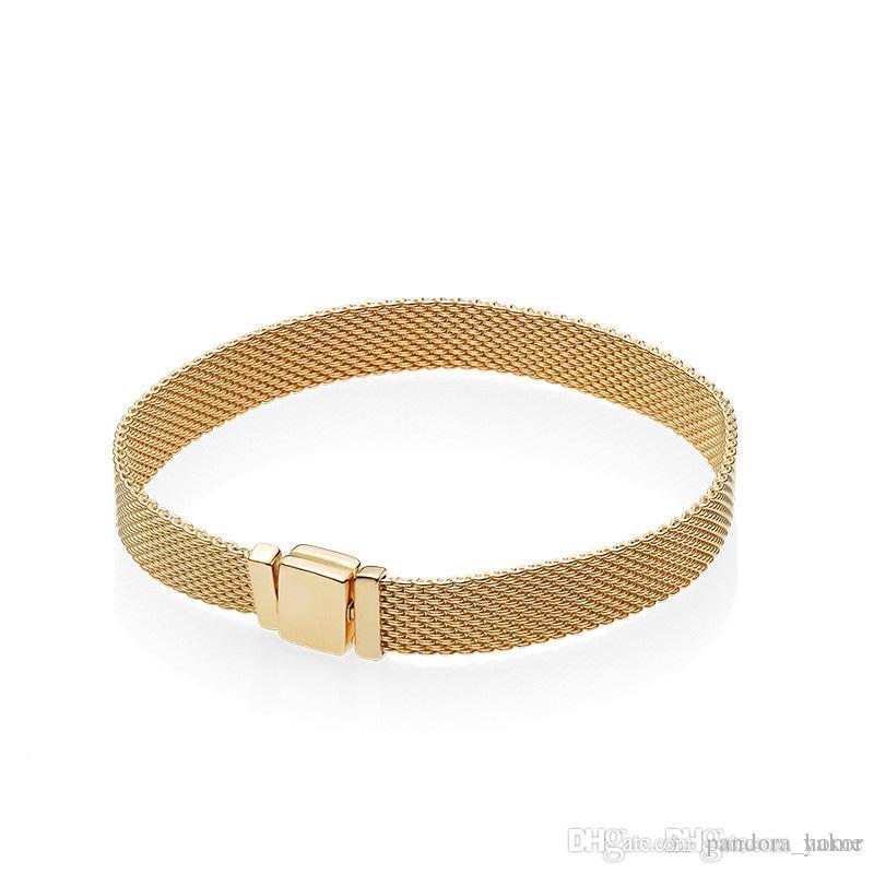 bracelet pandora or jaune