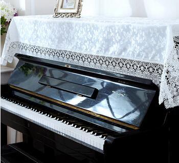 90x180cm Deco Toz Geçirmez Kapak Dantel Piyano Kapak Genel Piyano Bezi Ev Dekorasyon Düğün Hediyesi 2 Renk Seçeneği