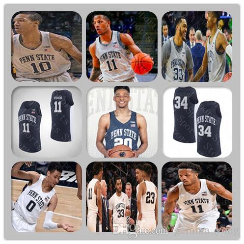 Uomo personalizzato Penn State Nittany Lions College Basket Blay Jersey Lamar Stevens Rasir Bolton Kyle McCloskey Myles Tread Myreon Jones Watkins