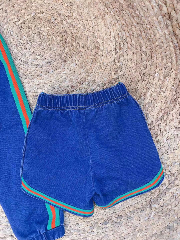 Para bebé nuevo cortocircuito del verano de los niños de las bragas bebés de la manera de la cintura de los pantalones vaqueros de los niños Niños Moda Pantalones vaqueros