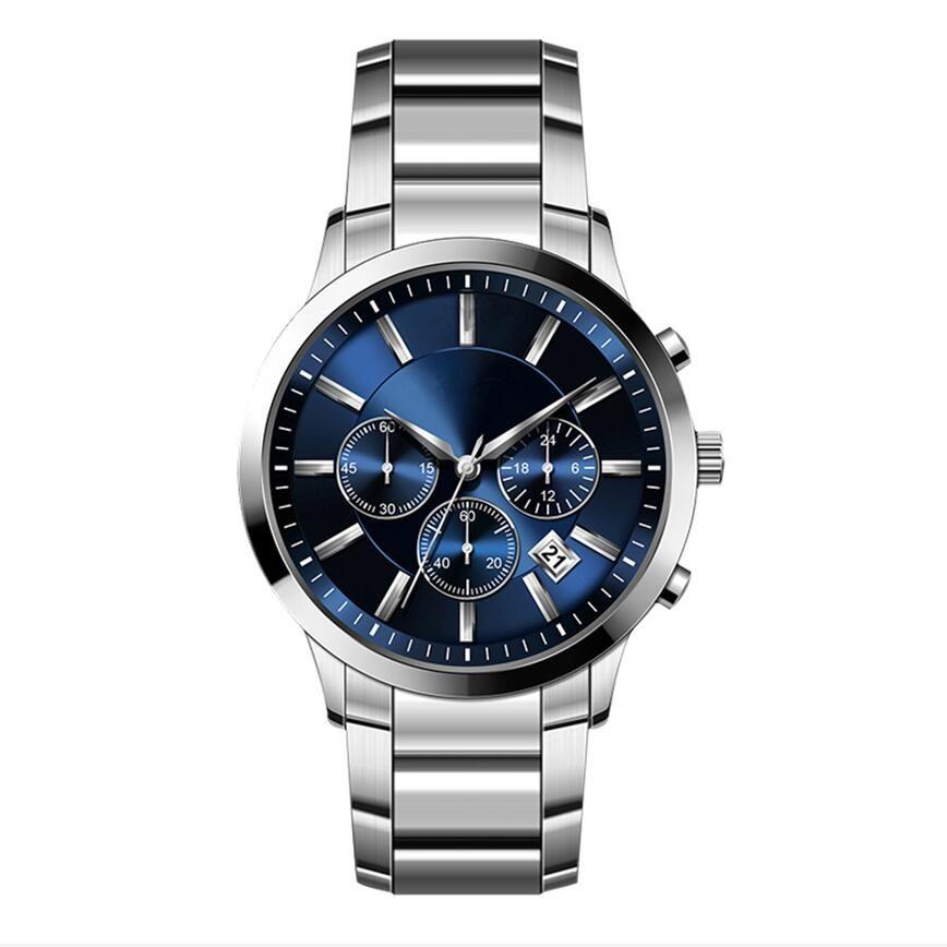 Cuoio di alta qualità di moda uomo orologio lusso maschio all'ingrosso di clock prezzo stile Top calendario da polso con la serie cronografo 2447/2434