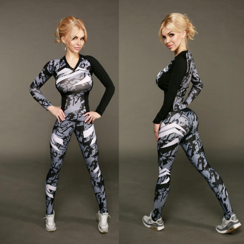 Frauen Sport Yoga Set Gym Rennen Sport Anzug Fitness Trainings-Kleidung Top + Tube Top + Pants Ideal für Yoga, Pilates Jogging grau
