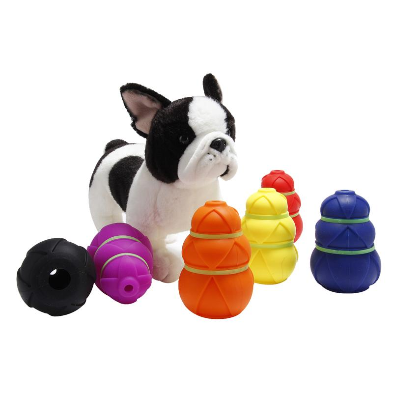 10PCS Gourd Shape Pets Leaking Puzzle Toy Ball Dog Fun Tumbler Leaking Food Ball Dog Self Feeding Toy