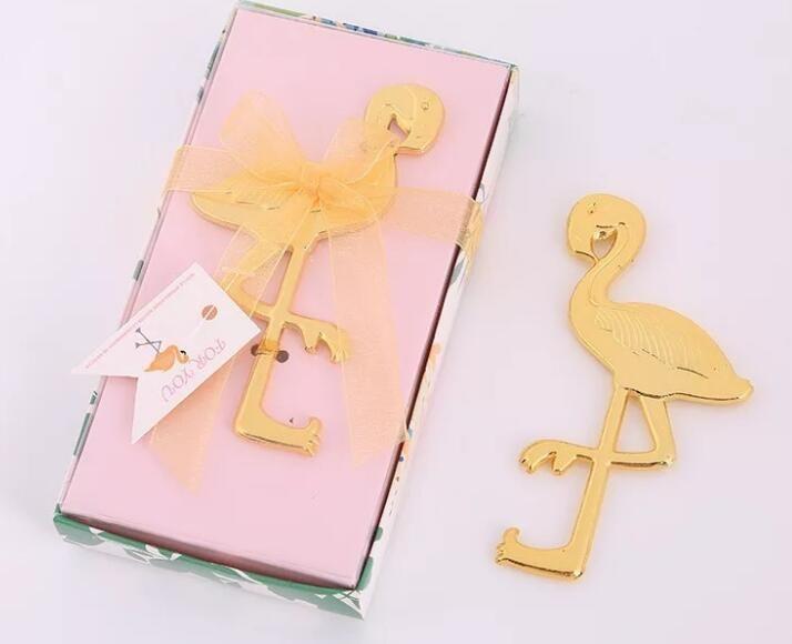 Libero Express per il tuo regalo di nozze piccolo regalo regalo di nozze bottiglia fenicottero d'oro porta a porta europea apri creativo del fenicottero apribottiglie
