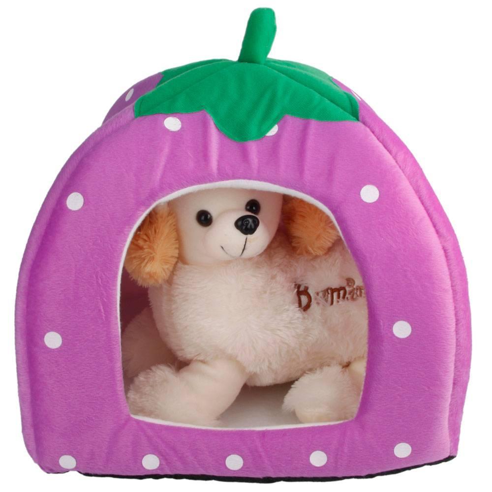 Algodão macio bonito da morango Estilo Multi-purpose Cachorro Cat House Nest Yurt