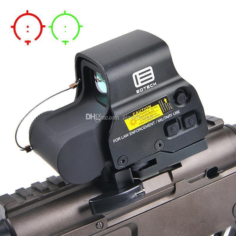 NOVO 558 Holographic verde Red Dot Sight tático Rifle Scope Óptica Visão Mira Reflex Com Mounts 20 milímetros Âmbito