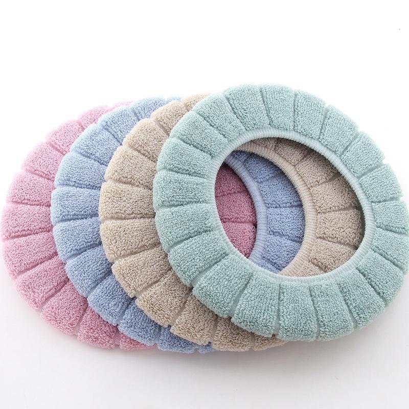 Higiênico macio Seat Cover Mat bonito tampa superior Warmer laváveis WC Casa de Banho Produtos Pads Almofada do assento