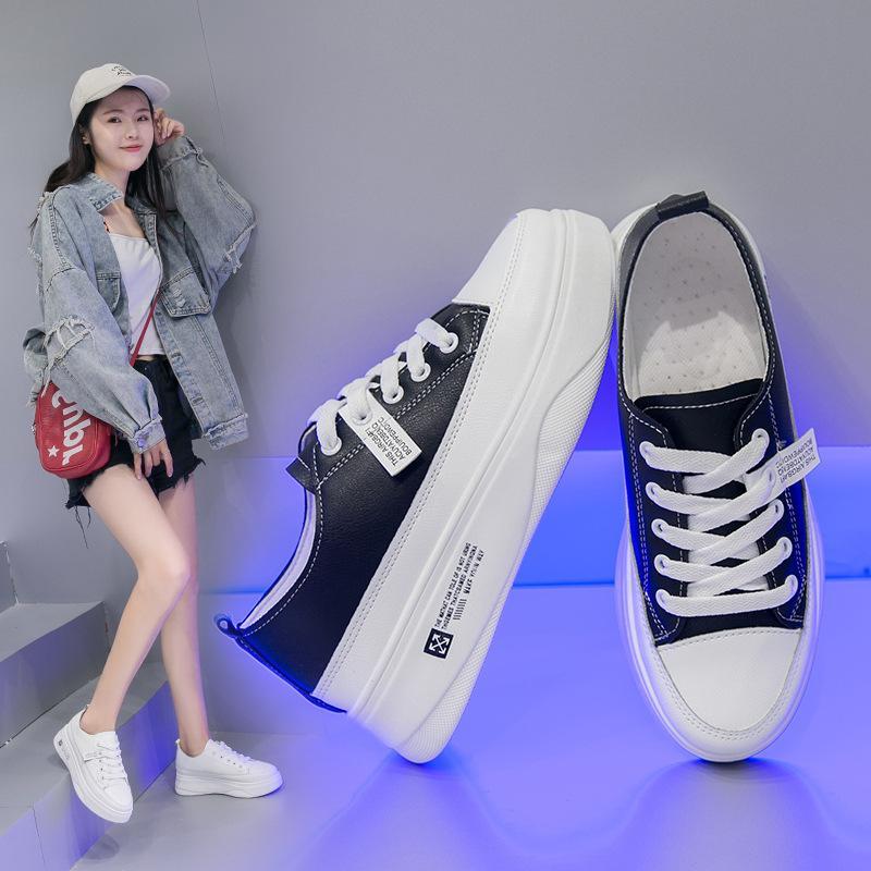 Piccole scarpe bianche estate femminile 2019 New coreano muffin con comode scarpe Flatsoled moda donna sportiva