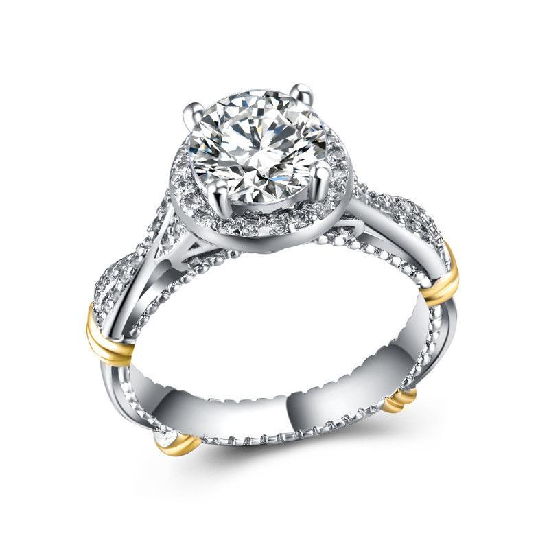 Separación de moda de la señora del color Anillos Adornos de joyería anillo de compromiso de plata esterlina Diario / Partido de lujo 925