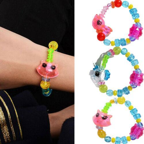 لطيف تصميم الأزياء عالية الجودة الاكريليك مفاجأة ملتوية السحر يونيكورن سوار سوار الحيوان لعبة أطفال بنات DIY هدية