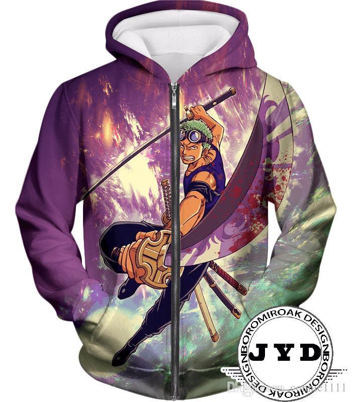Mens Jacket 3D One Piece Zoro Luffy Jackets Zipper Hoodie Men Anime Hoodie Novetly Gift Outwear Hooded Sweater Summer Tops S-5XL 8 Styles