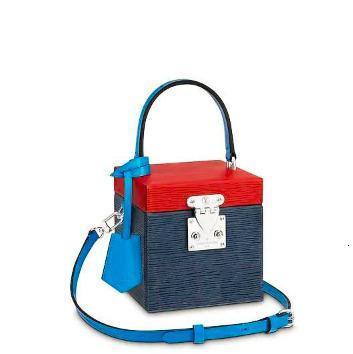 2019 sac à main dames sac concepteur femmes mode épaule sac dhm1998 M52466 eau Ripple Colorblock Blue Box
