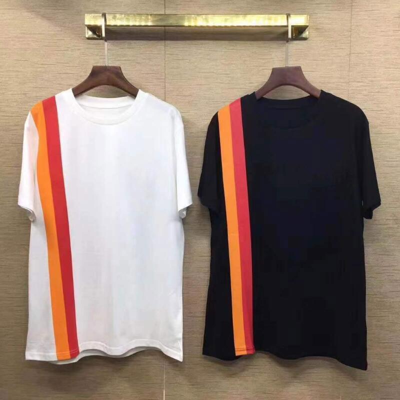 Men Design T Shirts Casual Mens Clothing Women Summer T Shirts Cotton Stripe Fashion Short Sleeve T Shirts