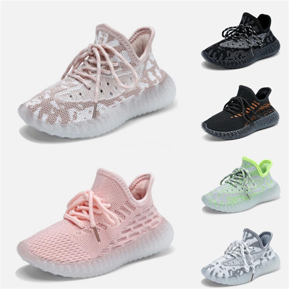 Hotsale bambini che corrono Designer Shoes Kanye West corridore onda 3M Reflective Kid Formatori della ragazza del ragazzo delle scarpe da tennis dei bambini pattini atletici 26-35 # 881