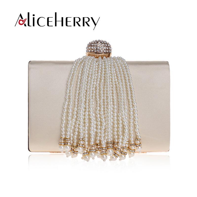 Tassels клатч PU кожа поперечный плечо женская сумка мессенджера сумочка жемчужина моды тела алмазные сумки из атиджи