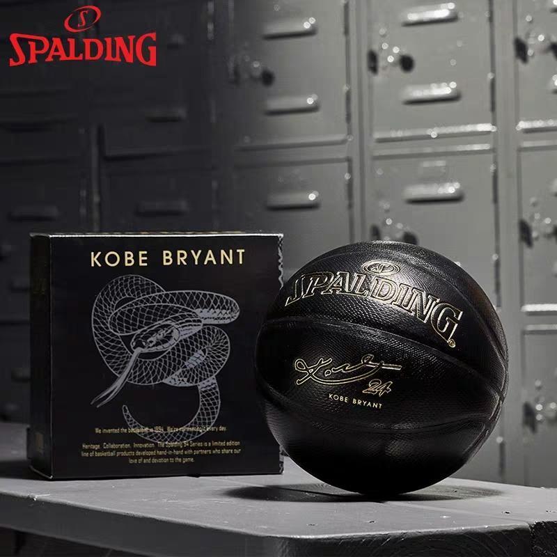 Новый Spalding 24K Black Mamba Мерч баскетбол 76-419Z Памятная издание PU износостойкой змеиной размер баскетбол мяч 7
