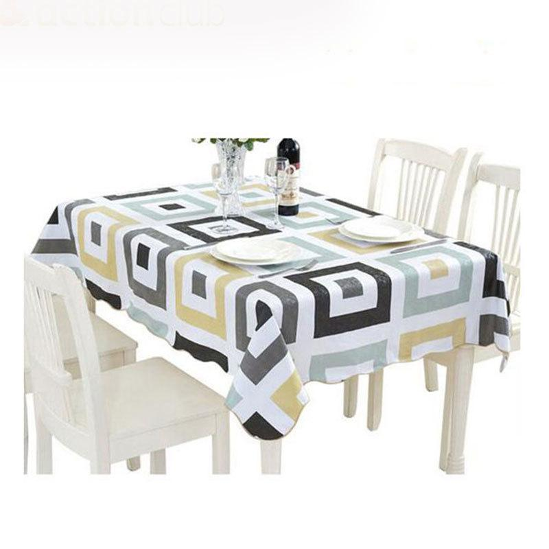 Fudiya Pvc Water Proof Table Cloth New Style High Quality Tablecloth Decorative Anious Table Cover Hotel Taille Y200421