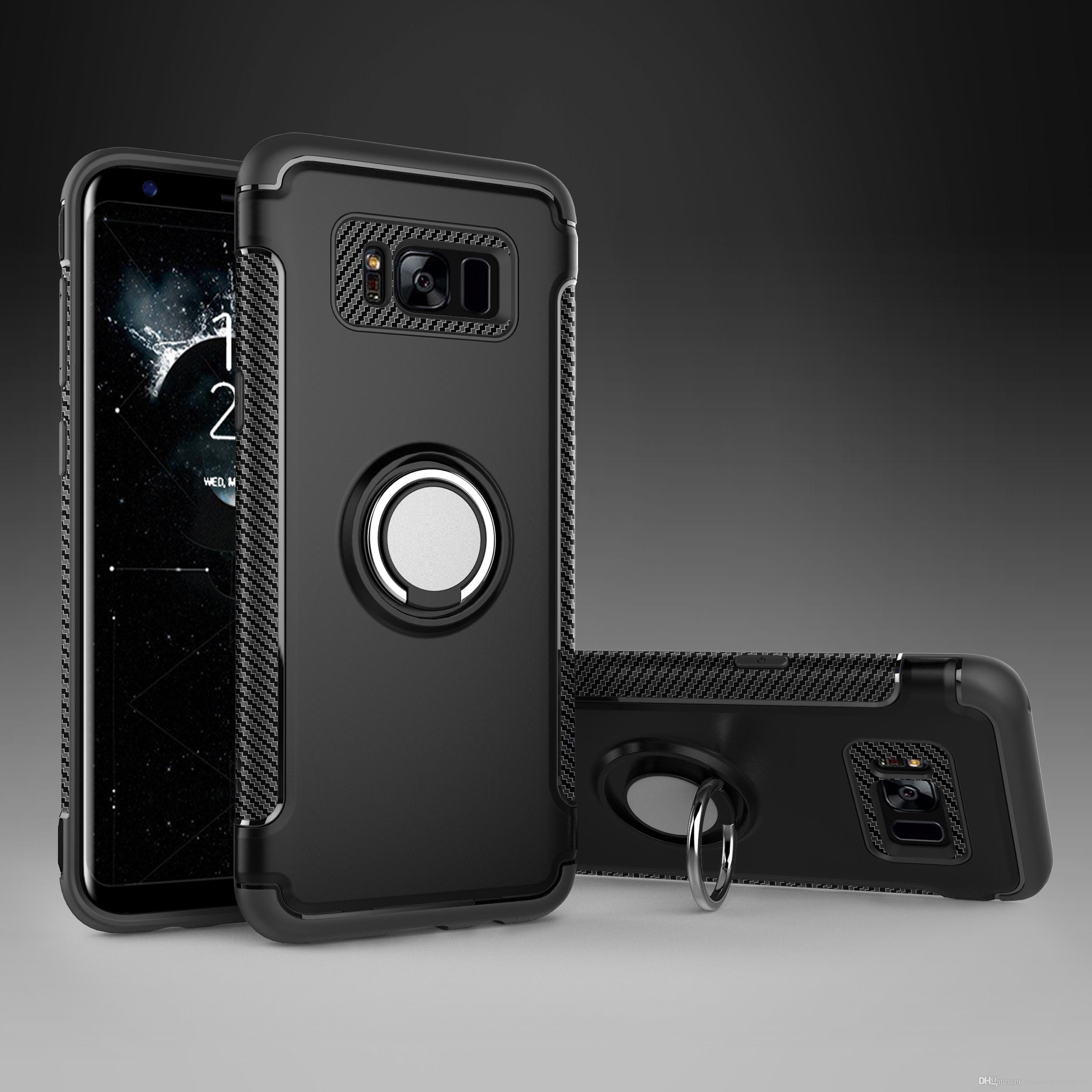 Finger magnétique Anneau support anti plantage pour Samsung Galaxy S9 S9 plus antichocs Prime couverture arrière avec support