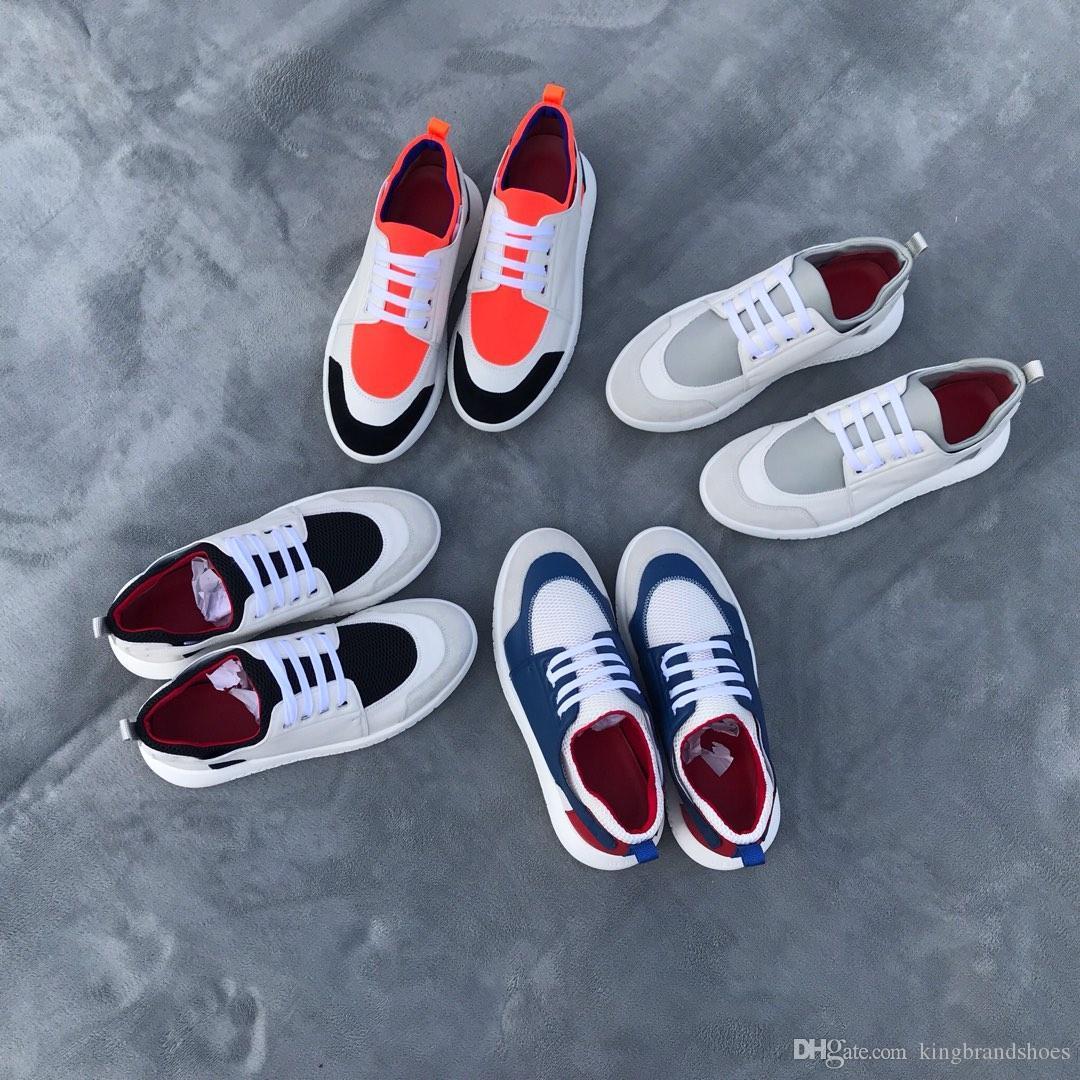 2019 neueste Sport Outdoor-Sport-Schuhe atmungsaktiv echtes Leder beiläufige Schuhe der Männer bequemen weichen Sohlen Farben Männer Schuhe passend