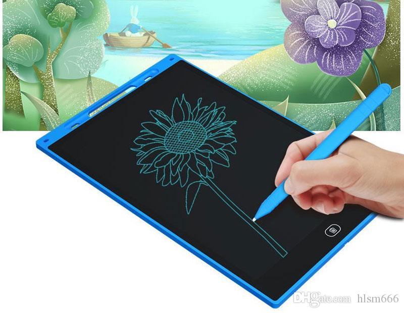 8.5 pulgadas LCD Tableta de escritorio con un clic del tablero de dibujo de Compensación bebé sin papel Bloc de notas tabletas de escritura a mano de ratón para el regalo de los niños