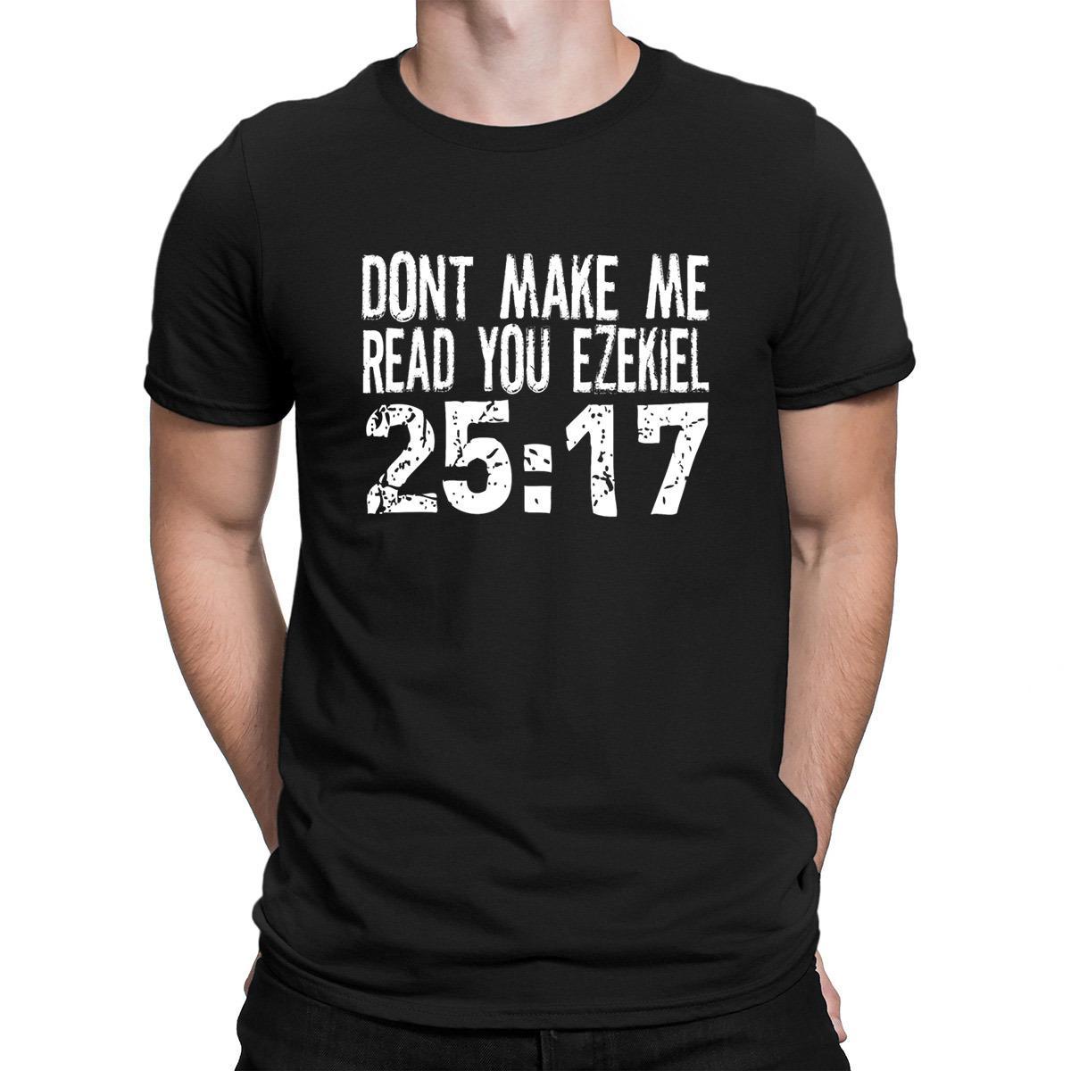 No haga que leerte Ezequiel 2517 Pulp Fiction camiseta caliente Venta Crear camiseta de Hip Clever Hombres Nuevos de verano Familia Hop Camiseta