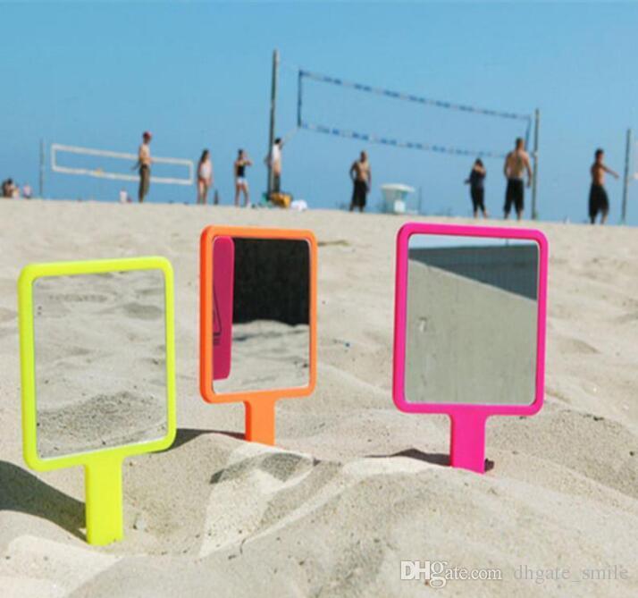 새로운 3CE 3 CONCEPT EYES 브랜드 메이크업 거울 미니 핸들 미러 한국어 버전 휴대용 화장 거울