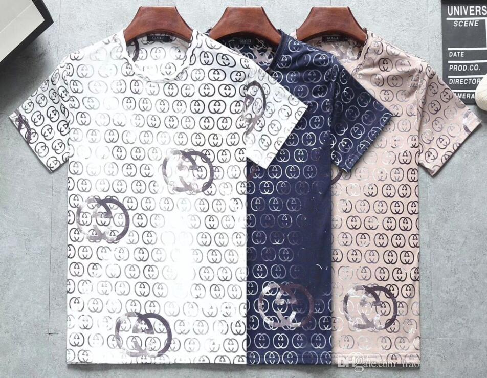 été 2019 designers tag imprimé serpent vêtements hommes lettre tissu polo g shirt col femmes occasionnels T-shirt t-shirt tops 037