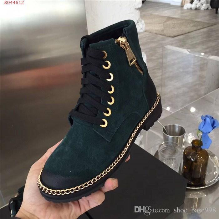 Zincir düşük topuk ve yuvarlak kafa Motosiklet tarzı Martin botları klasik alçak topuklu ayak bileği çizmeler, bilek çizme Womens