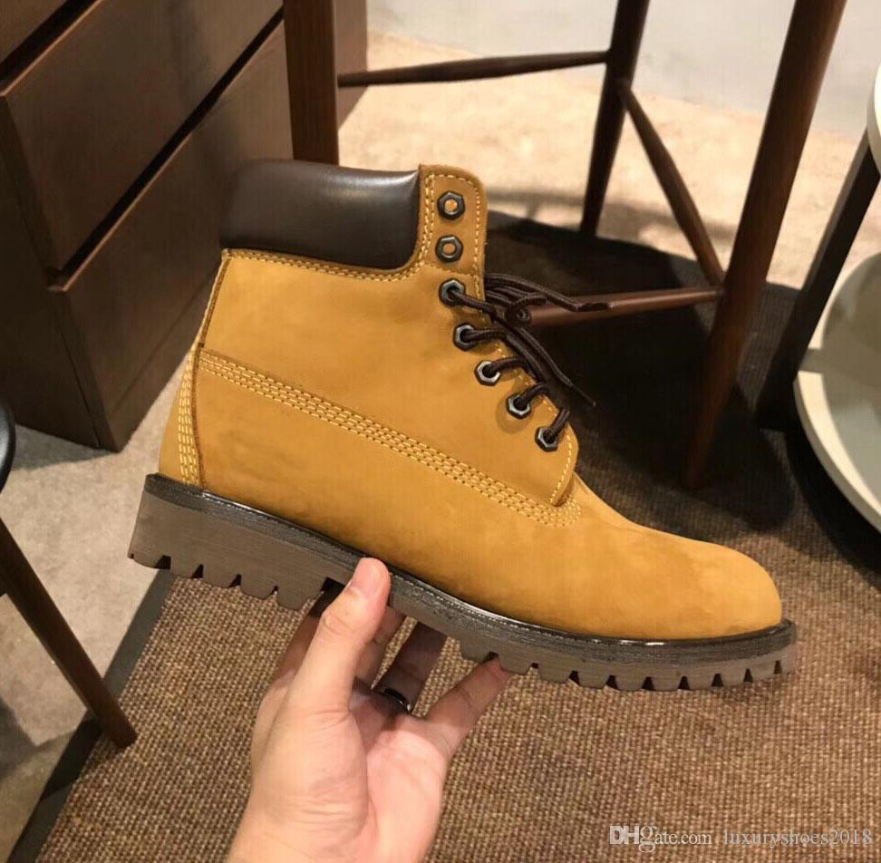 2019 Sport Designer Hommes Chaussures Casual Chaussures de sport des femmes des hommes Formateurs neige Martin Bottes Chaussures en cuir design de luxe Bottes