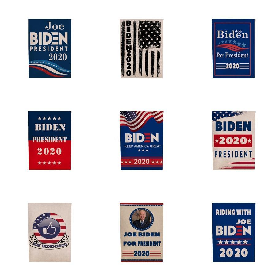Banderas mezcla Biden Jardín 45 * 30cm al aire libre Decorar Presidente de los EUA Elección General Banner 2020 Banderas Bandera Biden banderín bandera H0004 # 843