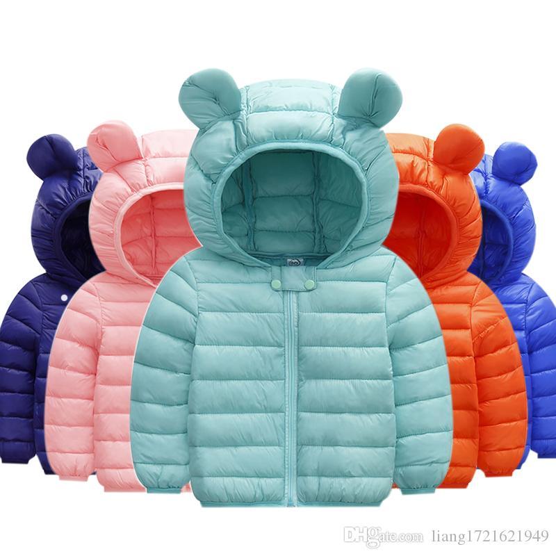 Jungen Wintermantel Light Kids Jacke Mit Kapuze Massive Baumwolljacken Kleinkind Outfit Baby Mädchen Jungen Kleidung