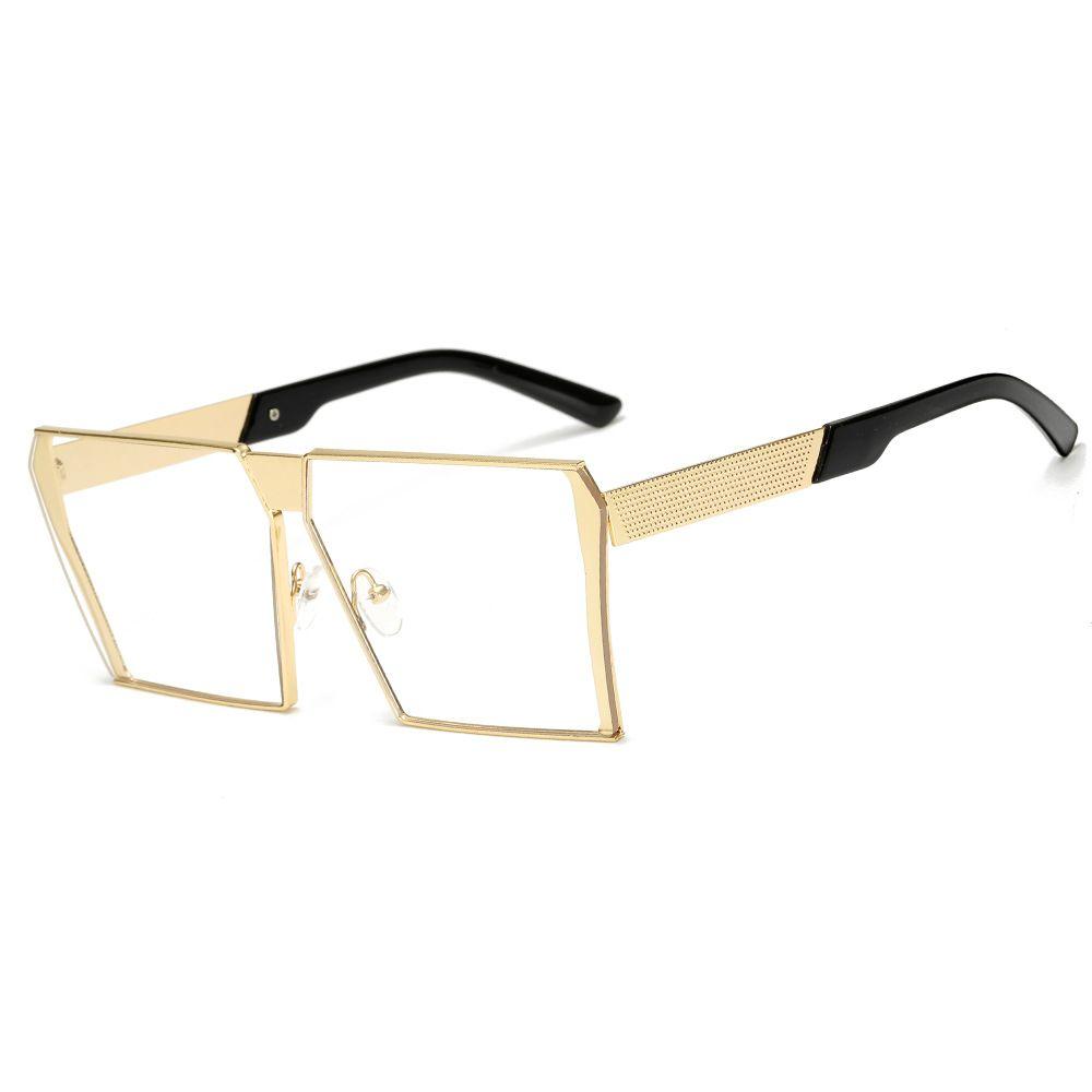 2020 Nueva Marca Moda Designfashion gafas de sol mujeres y hombres retro diseño sin marco de gran tamaño gafas de sol hombre gafas de sol de lujo