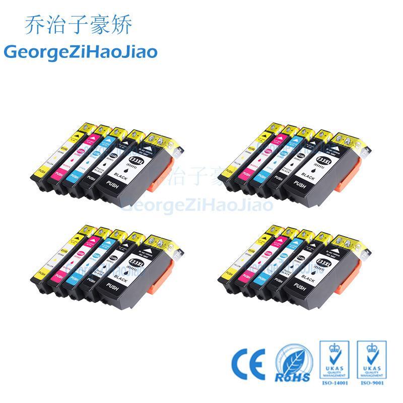 4sets T3351 Cartucho de Tinta 33XL Compatível com Epson XP-530 XP-630 XP-630 XP-630 XP-640