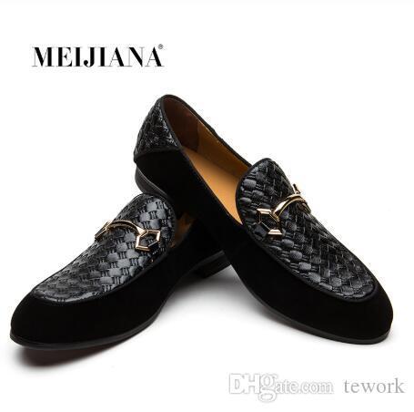 Men Flats Slip Genuine Leather Men Shoes Designer Men Shoe Loafers Casual Flats
