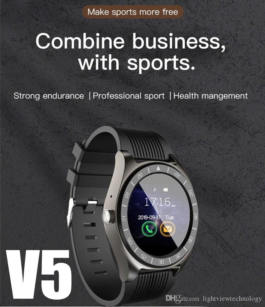 New V5 Smart Watch mit Kamera Facebook WhatsApp Twitter Sync SMS Männer Smartwatch Unterstützung SIM TF Karte für iPhone Xiaomi Samsung Phone