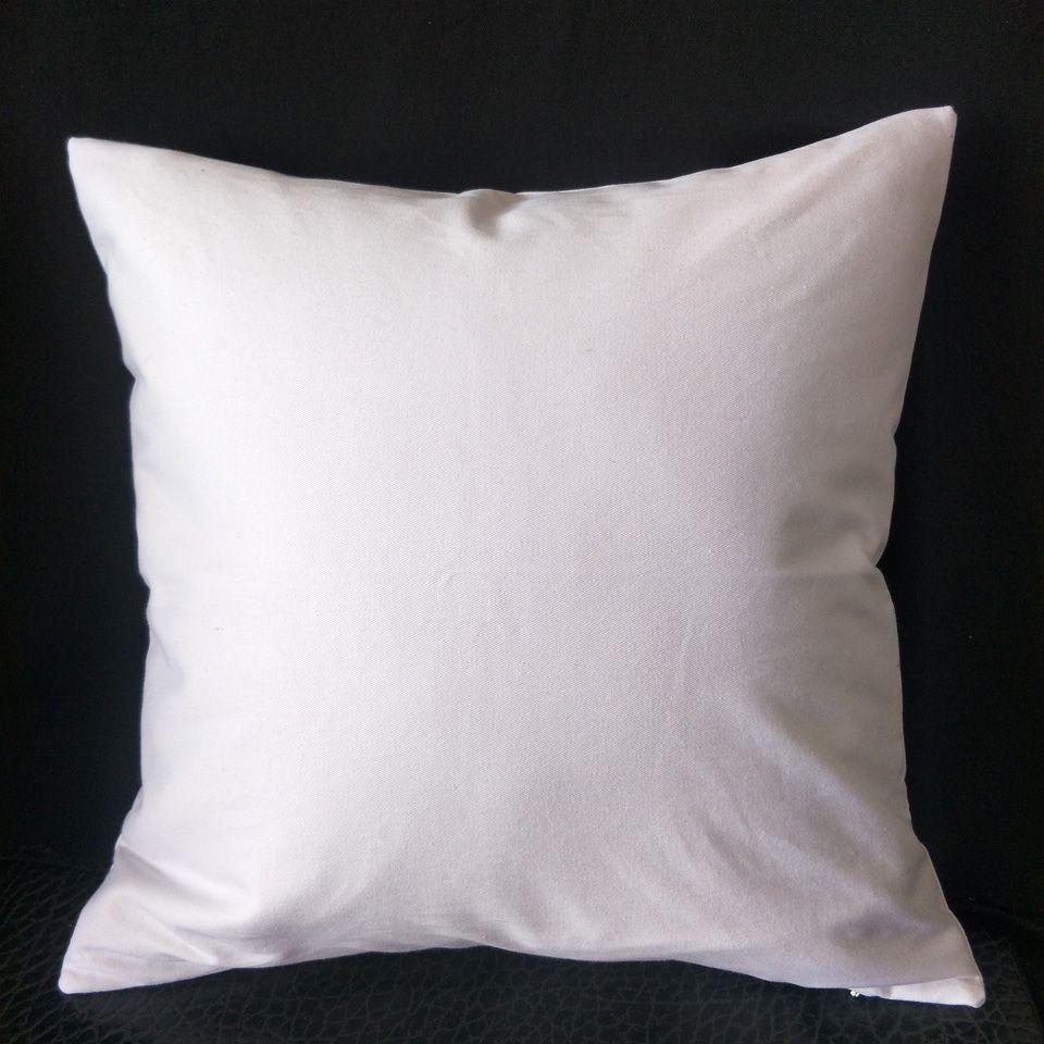 1 adet 16in kare boş saf beyaz pamuk dimi stokta Şablonlar / Resim / Nakış / HTV baskı için mükemmel kalın kumaş yastık kapağı 200gsm