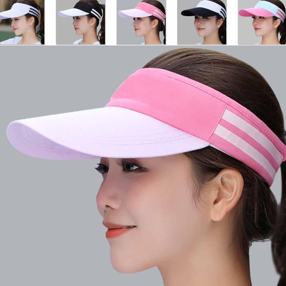 (A333X) Chapeau de tennis de golf d'été unisexe Femmes Hommes Sports Wide Brim Beach Visor Sun Hat Cap