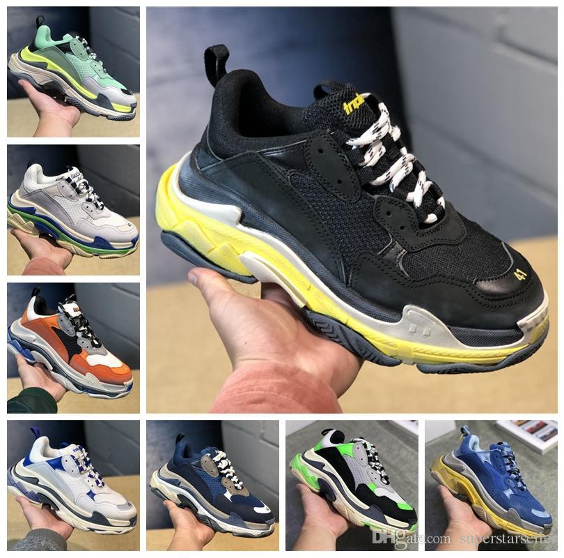 Top-Qualität Triple S Designer-Turnschuhe Paris New Triple-S Sneaker Luxus Dad Schuhe für Herren Designer-Schuhe Womens Sports Trainers Körbe