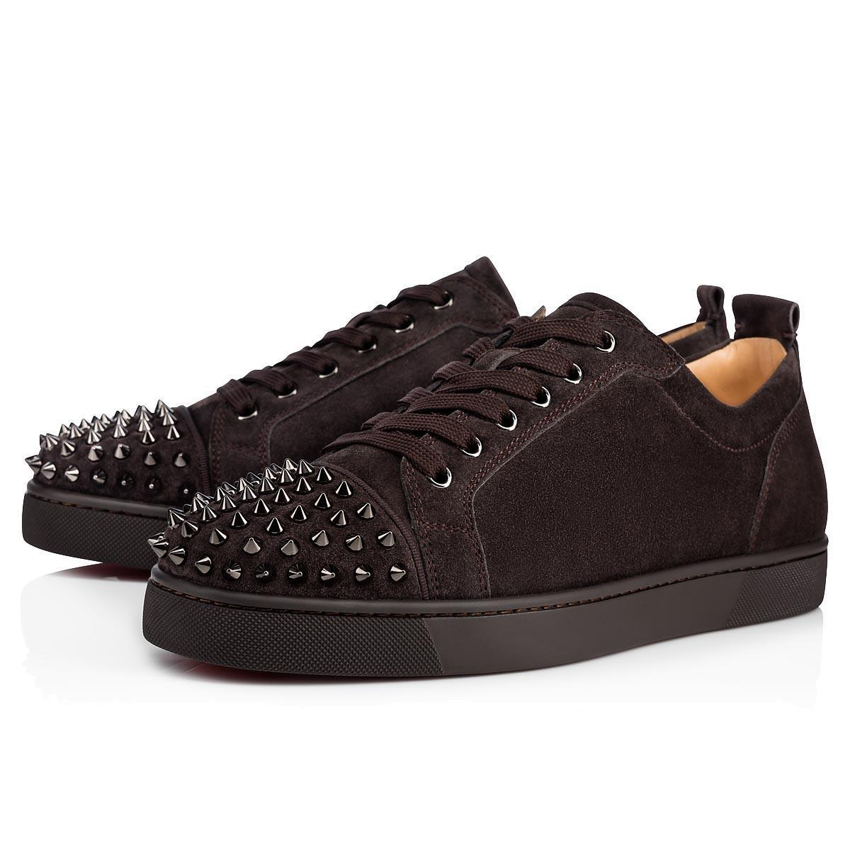 Designs Shoes Spike junior calf Low Cut Mix 20 Red Bottom Sneaker Luxury Party Wedding Shoes Genuine Leather Spikes Lace-up Casual ShoeL02