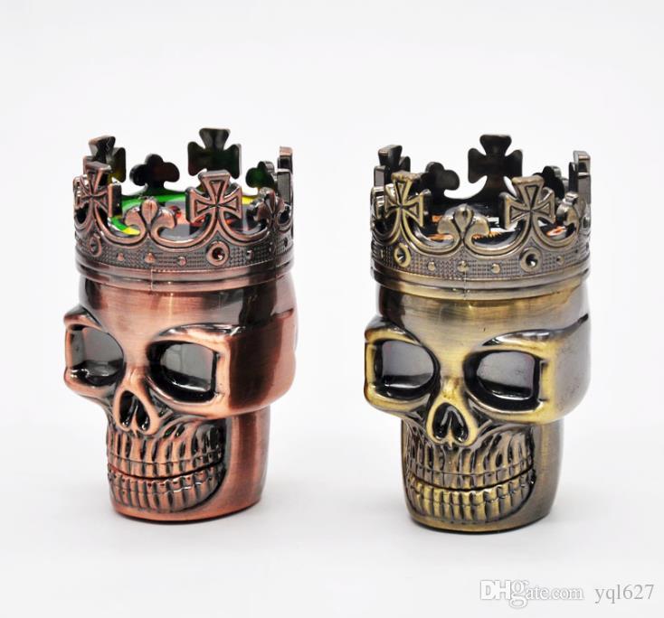 Amoladora de humo de metal Forma del cráneo Diámetro de la amoladora de humo doble 46 mm Amoladora de humo de metal