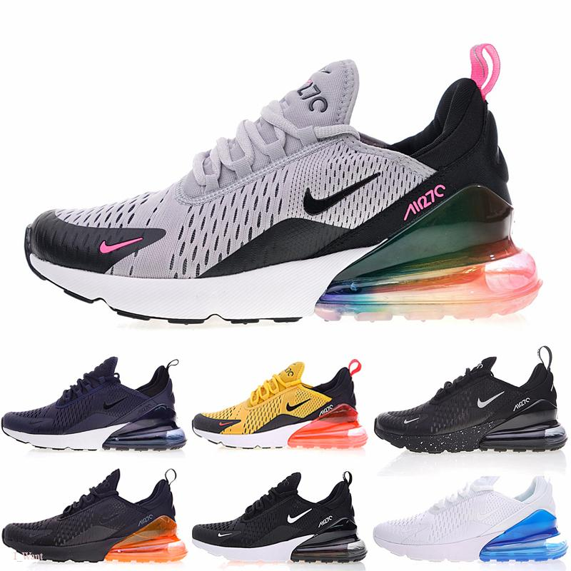 Nike air max 270 SW Sean Wotherspoon Designer Shoes Vivid multi Soufre Jaune Bleu Chaussures de course hybride 2019 nouvelles bottes des femmes des hommes Taille 36-45