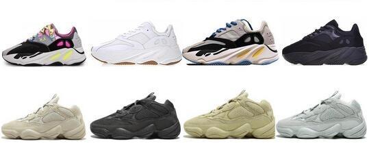 2019 Nouveau Refective sel 700 coureur de vague v1 statique Geode Inertie Mauve Chaussures de course Kanye West Hommes Femmes 500 Designer Sport Sneakers
