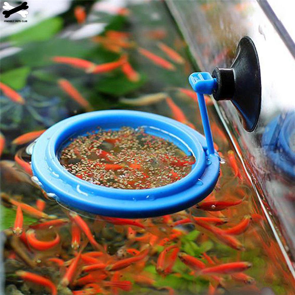 New Black Aquarium Fish Tank Tray Feeder Fish Floating Food Feeding Ring