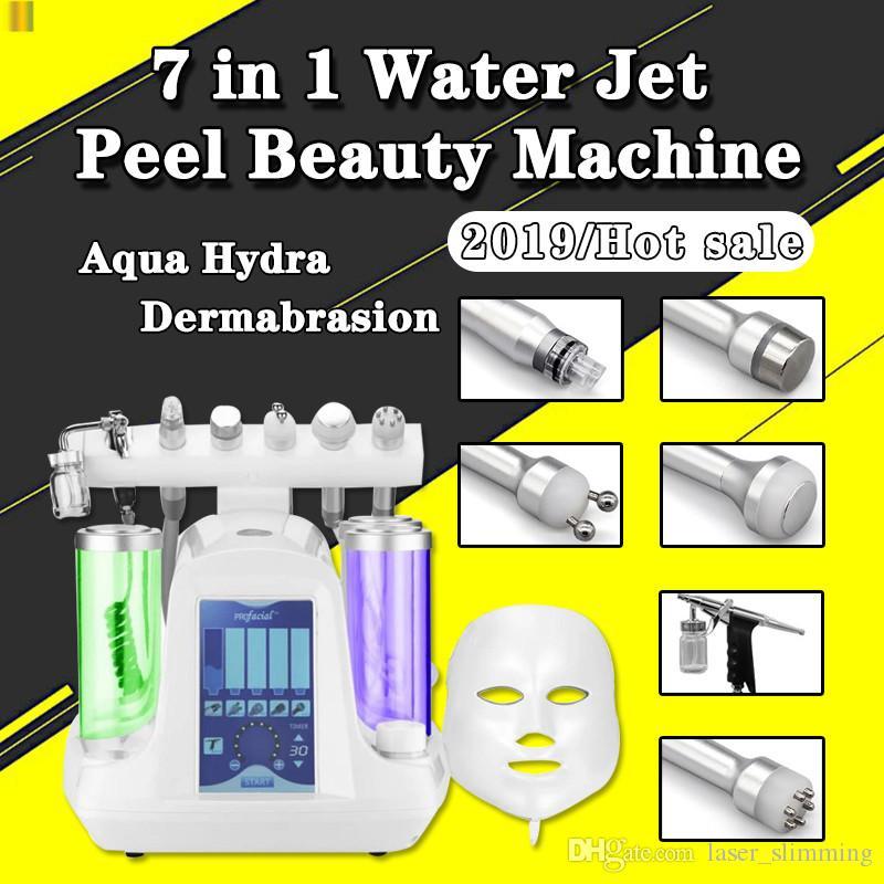 7 em 1 Água Hydrafacial Dermoabrasão Oxigênio Jet Martelo Frio BIO Face Lift Ultrasonic Máquina Microdermoabrasão Hidro Peeling Spa Equipamentos
