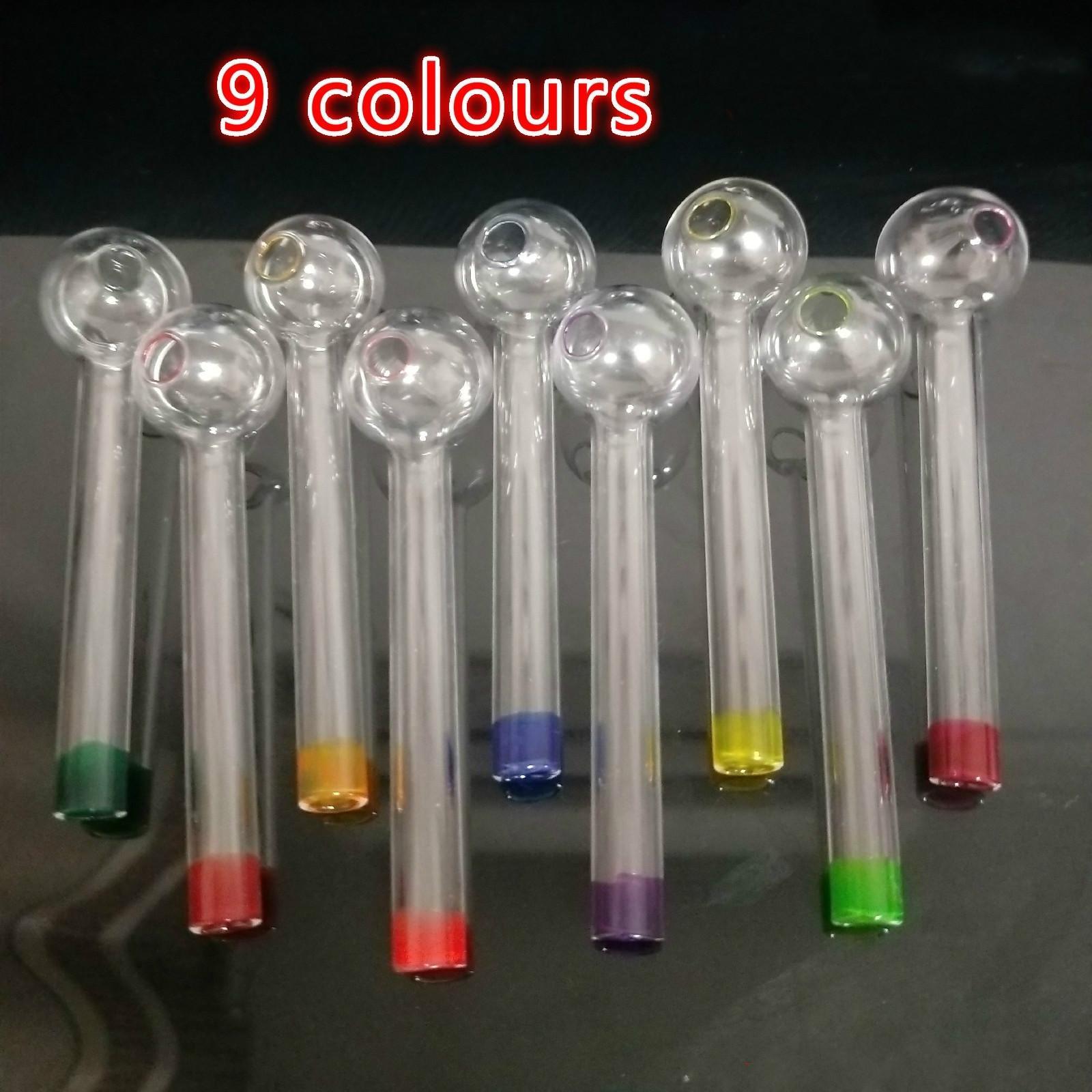 Pyrex Glass Pipe 9 Видов Красочных стекол Чаши Трубы Труба курительной трубки масло горелка труба