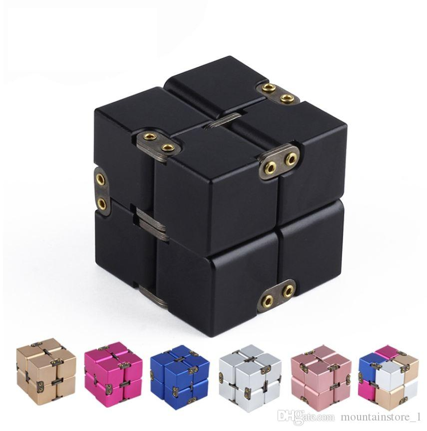 Premium Metal Infinity Cube Fidget Toy Aluminium Deformation Magical Infinite Cube Fidget Toys Stress Reliever for EDC Anxiety