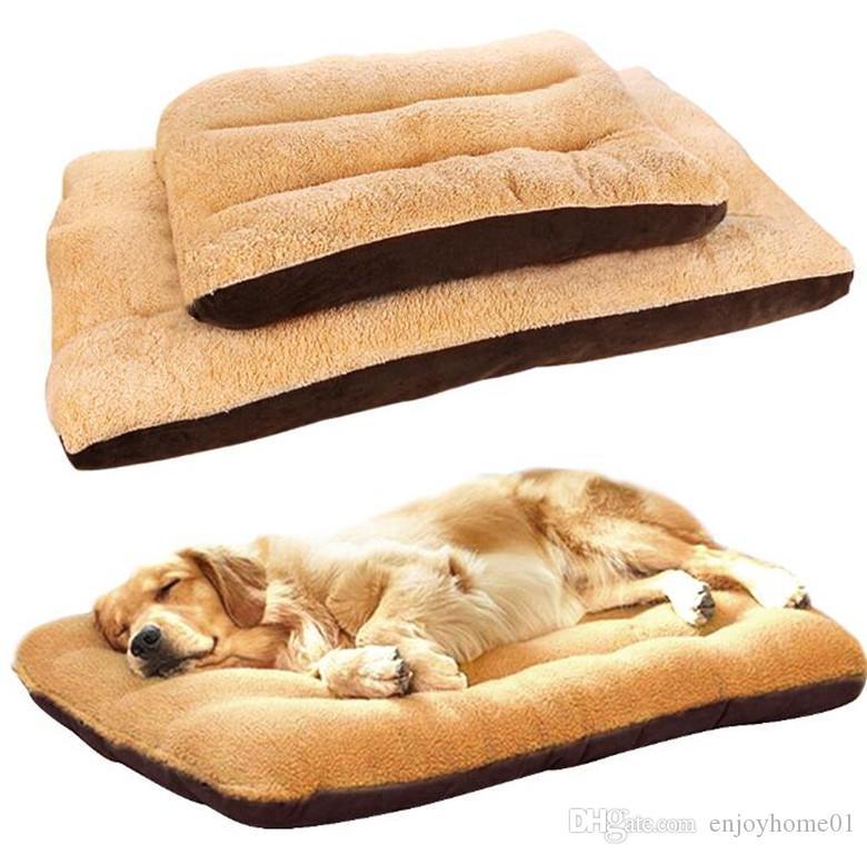 كبير الكلب السرير حصيرة الحيوانات الأليفة وسادة حصيرة فراش القطن الناعمة الدافئة النوم سرير الاسترداد جرو بيوت قفص المنزل أريكة للأحزام الصغيرة المتوسطة